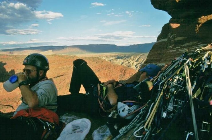 On the Titan Fisher Towers Utah.. with Tony Penning and Dave Hope  2004