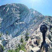 Rock Climbing Photo: Lonnie Kauk walking the 'backbone' causewa...