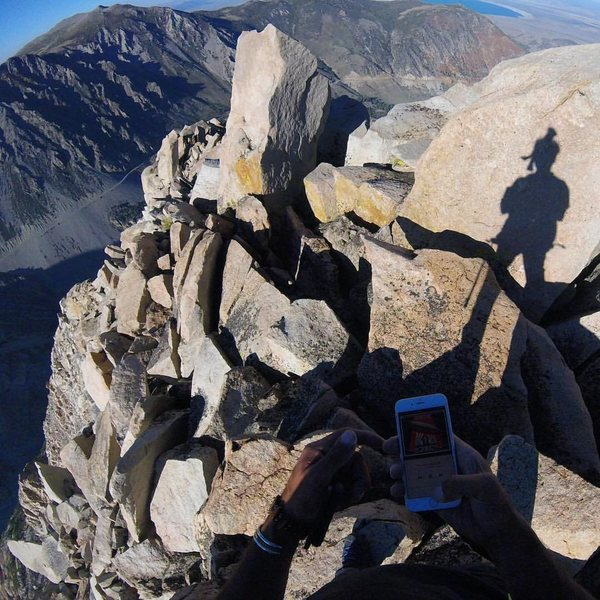"""Rock Climbing Photo: Lonnie Kauk on top after soloing """"The Backbon..."""