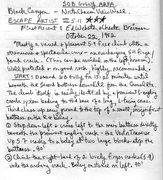 Ed's description for Escape Artist (page 1).