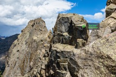 Rock Climbing Photo: Looking back on Block Tower (& Shark Nose) from th...