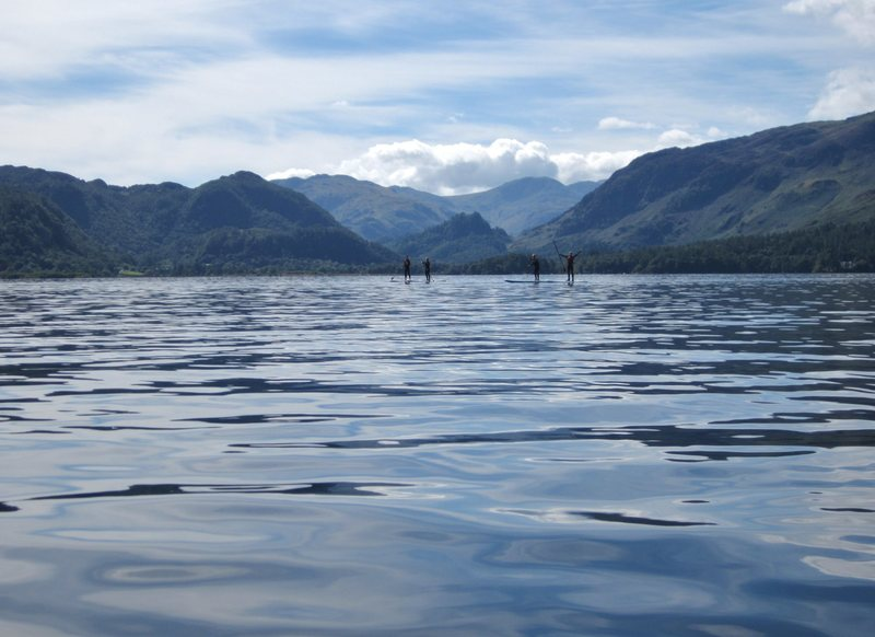 Walking on water Lake Derwentwater