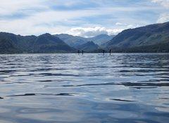 Rock Climbing Photo: Walking on water Lake Derwentwater