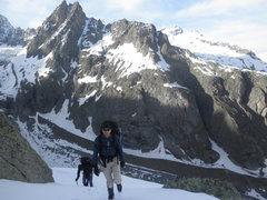 Rock Climbing Photo: Near Aiguille de Trolet