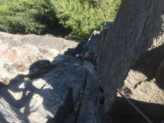 Rock Climbing Photo: Upper section of P2