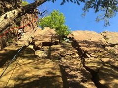 Rock Climbing Photo: Feline is shown in red.  Ignore the rope and climb...