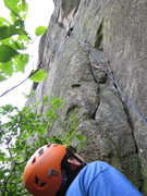 Rock Climbing Photo: Belaying Steve Carol onto the slab section