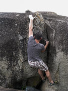 Rock Climbing Photo: Finishing the short but sweet Total Jam crack.