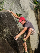 Rock Climbing Photo: The high foot here is probably the crux of the rou...