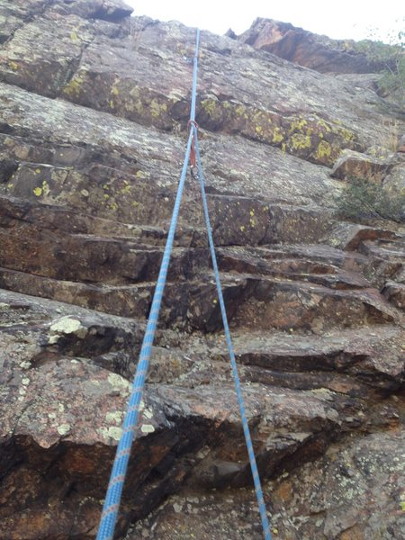 Rock Climbing Photo: The bottom and the first bolt.