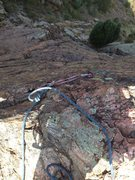 Rock Climbing Photo: The anchor showing how easy it is to reach from th...