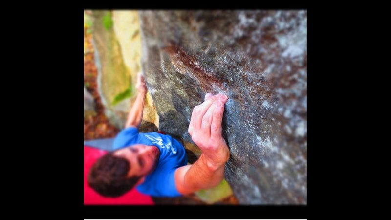 Another fun v4 on the left side of boulder