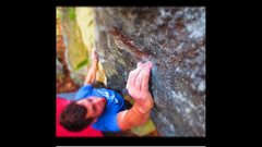 Rock Climbing Photo: Another fun v4 on the left side of boulder