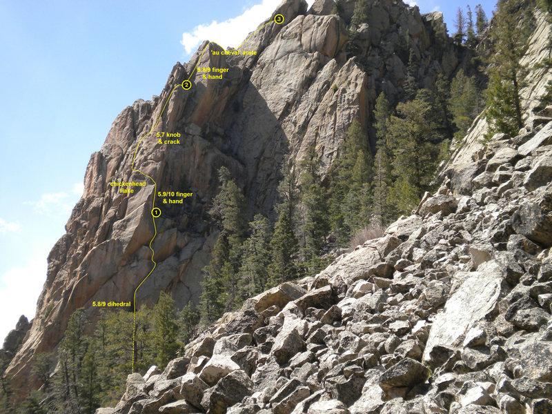 Rock Climbing Photo: revised NQAI topo