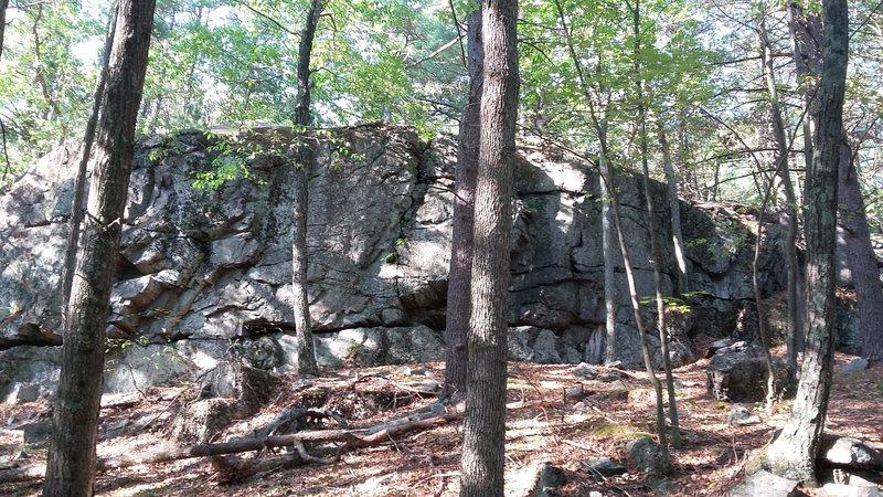Topo of crag.