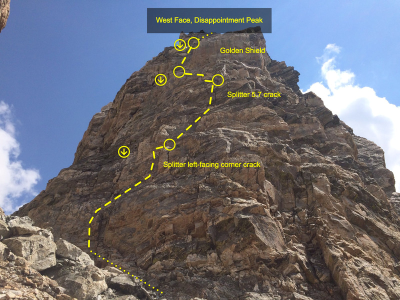 Rock Climbing Photo: The West Face of Disappointment Peak.