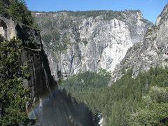 Rock Climbing Photo: The mist trail