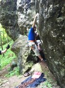 Rock Climbing Photo: The uber-sick boulder problem start.
