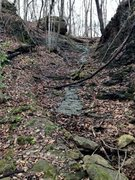 Rock Climbing Photo: The drainage gully left of Chicago Wall. Beautiful...