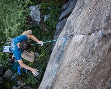 Rock Climbing Photo: Whipper onto the #4 nut off the lower crux. The nu...