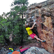 Rock Climbing Photo: Making the first move on Chronoception.