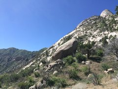Rock Climbing Photo: North end of the East Slabs, from the approach tra...