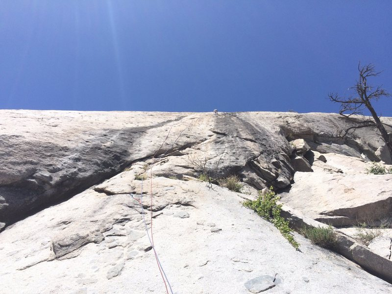 Rock Climbing Photo: Another view of P1, this one with a climber (Marta...