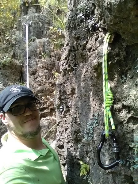 Rock Climbing Photo: This is the test placement I used today.  Less tha...