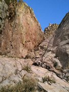 Rock Climbing Photo: The gully leading down to the west from Squaretop....