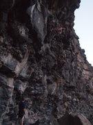 Rock Climbing Photo: Shaking out on Ziplock