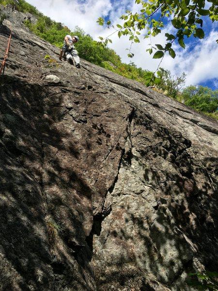 Rock Climbing Photo: RH on P1.
