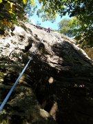 Rock Climbing Photo: Charlie Danger, age 9 top roping Smidgin.