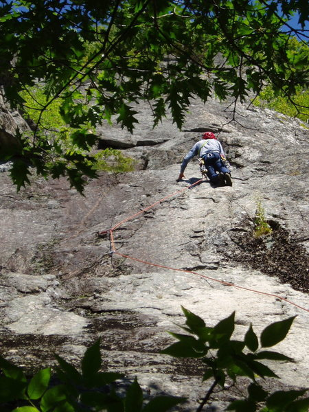 "RW above the ""flakes"" of P1; he's at the start of the ""eroded dike"""