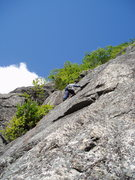 """Rock Climbing Photo: RW on P2 of """"Mouseketeers"""""""