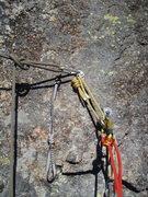 Rock Climbing Photo: Belay bolts