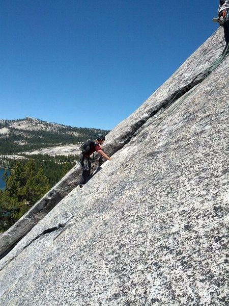 Rock Climbing Photo: layback
