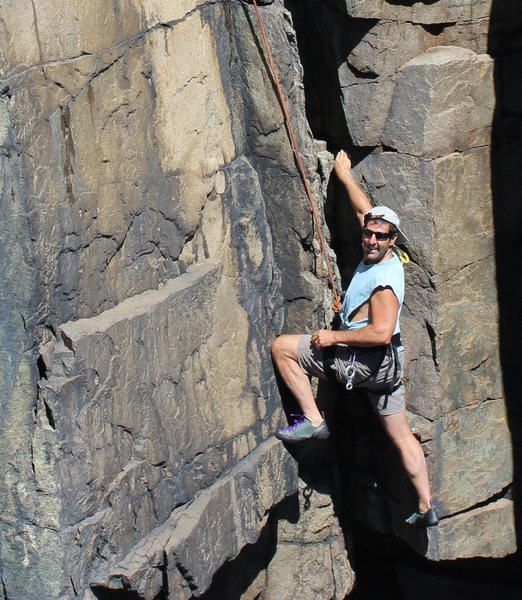 After having a rotator cuff repair on my right shoulder, I was so happy to be climbing again and enjoying this moment at Otter Cliffs August 2016