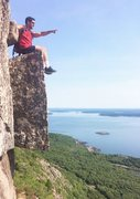 Rock Climbing Photo: Acadia National Park. Looking out over Frenchman&#...