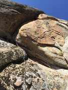 Rock Climbing Photo: Lower route, Route is still dirty down low (as you...