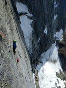 Rock Climbing Photo: Blake Herrington and Bryan Gilmore following one o...