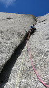 "Rock Climbing Photo: The ""War"" section, a long and wide dihed..."