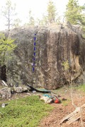 Rock Climbing Photo: Farthest left route on the wall. Start on Sloping ...