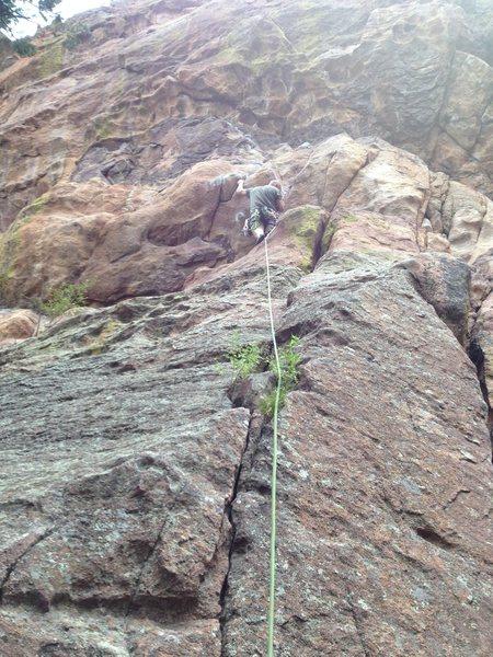 Rock Climbing Photo: At the fixed pin.