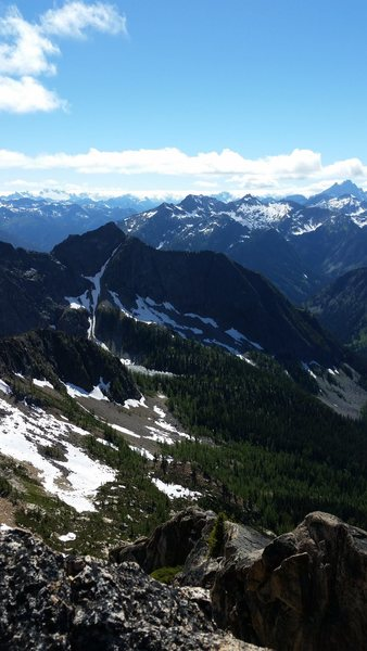 North Cascades view on top of SEWS in Washington Pass