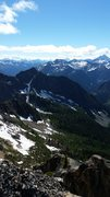 Rock Climbing Photo: North Cascades view on top of SEWS in Washington P...