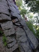 Rock Climbing Photo: the cracks in this route eat up medium cams