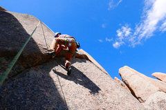 Rock Climbing Photo: Interesting bulge halfway up.