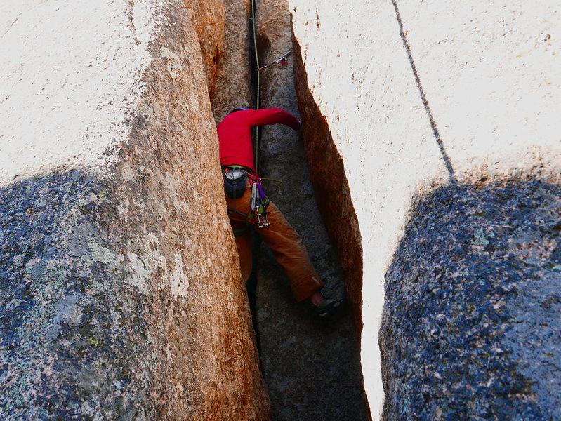 Rock Climbing Photo: The start of Turd Launcher.