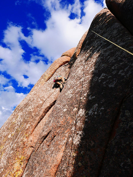 Rock Climbing Photo: Doing what the name suggests on Grunt Lieback.