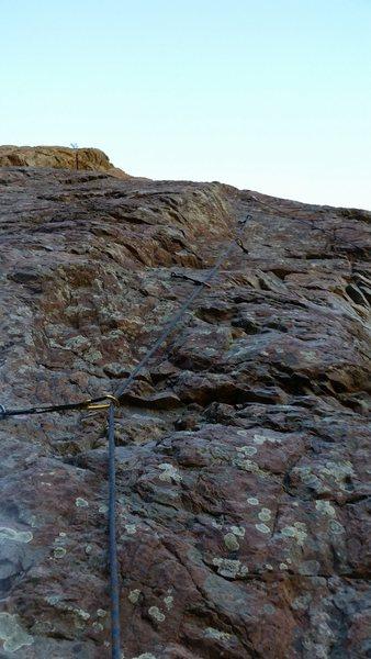 Rock Climbing Photo: The upper stemming bits